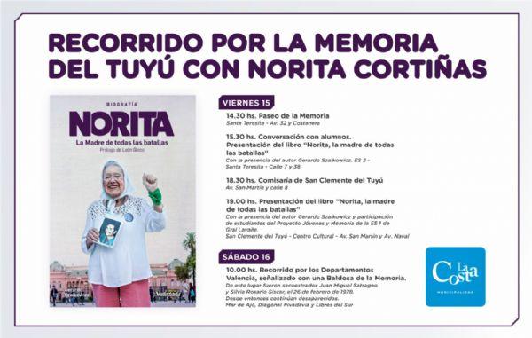 Recorrido por la memoria del Tuyú, con la presencia de Norita Cortiñas