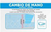 Ver detalles de Cambio de mano las calles Azopardo y Espora en Mar de Ajó